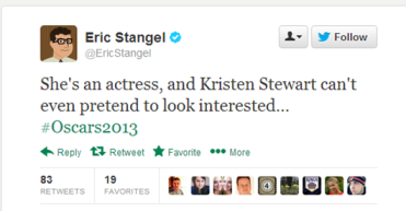 Kristen Stewart disinterested at Oscars