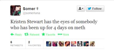 Kristen Stewart looks strung out at Oscar's tweet
