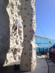 Royal Caribbean had amazing amounts of fun for both him and her. We both rock climbed on Liberty of the Seas.